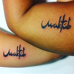 Acima de tudo, a tattoo Maktub chama atenção de muitas pessoas