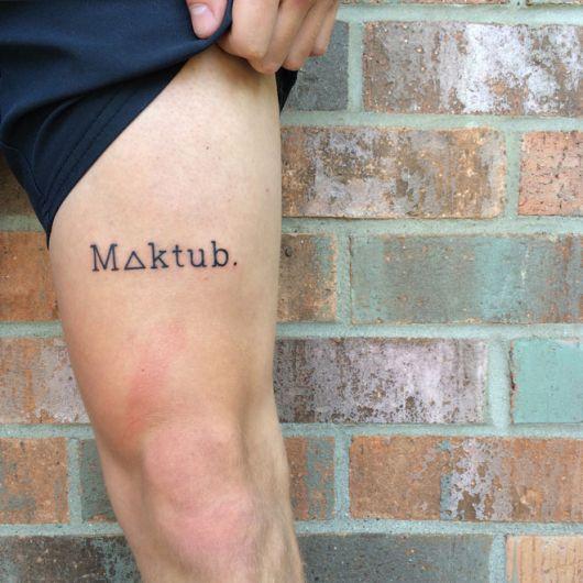 Tatuagem na perna para quem ama modelos discretos