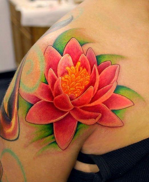 tatuagem colorida flo