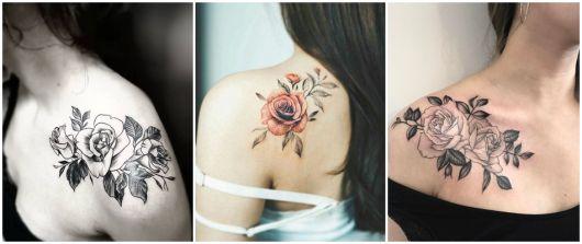 ideias para tatuagem de rosa