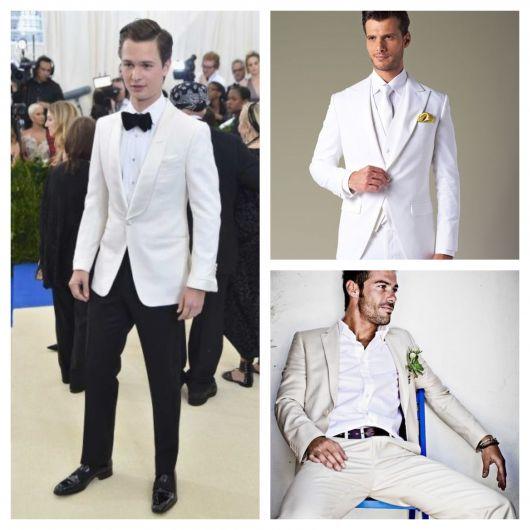 O terno branco virou hit em vários eventos diurnos e noturnos
