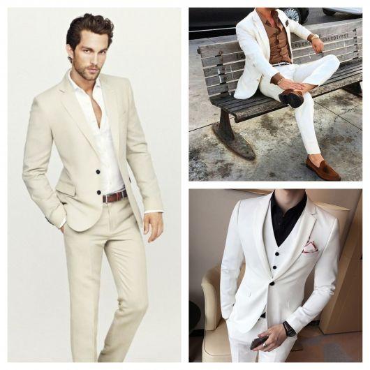 As variações de terno branco estão conquistando cada vez mais rapazes