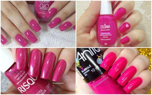 cores de esmalte pink