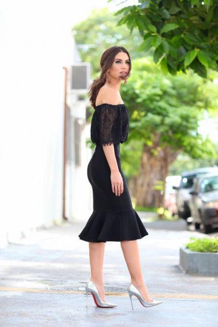 vestido preto ciganinha
