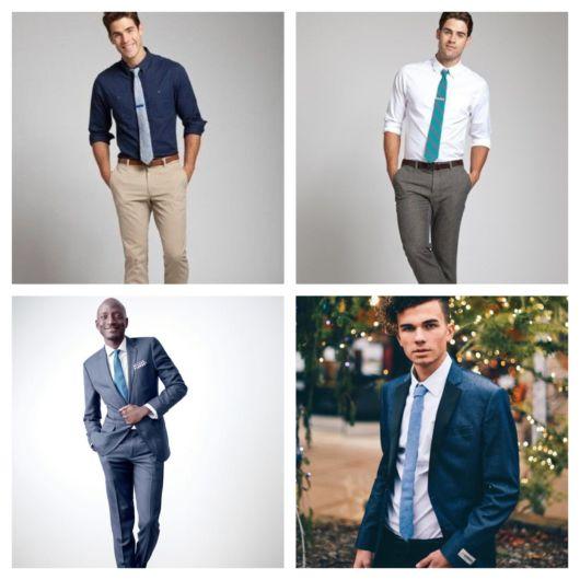 90 modelos de gravata azul + dicas para usar e combinar