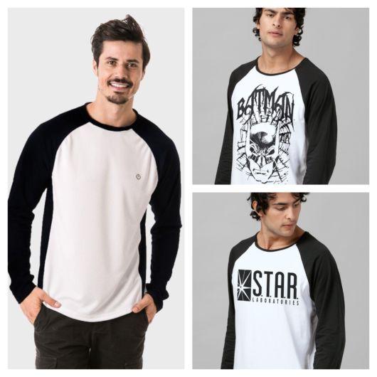 A camiseta Raglan está cada vez mais popular no Brasil, sobretudo na moda urbana