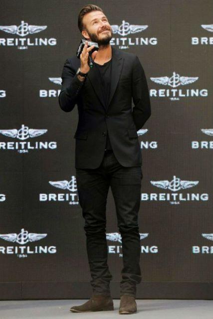 David Beckham e seu estilo all black