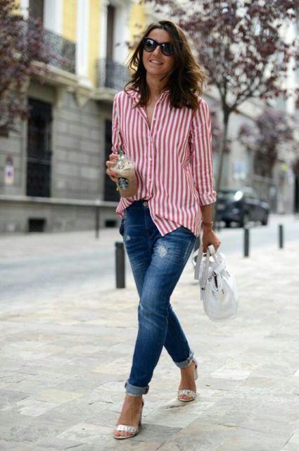 calça jeans com camisa