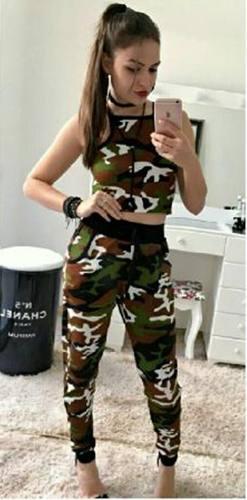 conjunto militar com cropped camuflado
