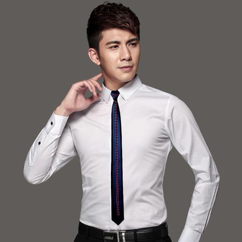 O formato da gravata slim é perfeito para harmonizar o look