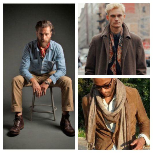 Faz toda a diferença usar um lenço junto a uma jaqueta, camisa ou casaco