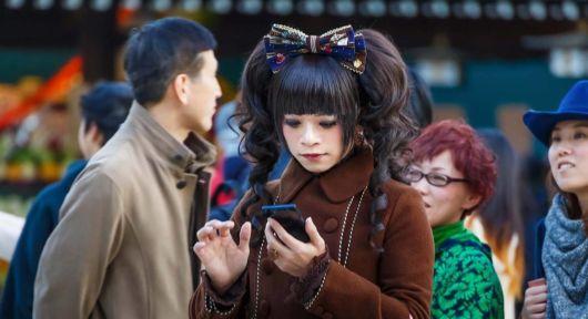 penteados kawaii cabelo preto com cacho