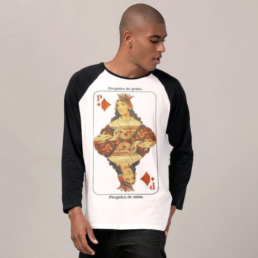 Camiseta Raglan masculina P&B estampada