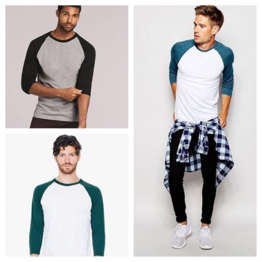Tudo sobre a camiseta Raglan masculina + 50 looks impecáveis para rapazes de vários estilos