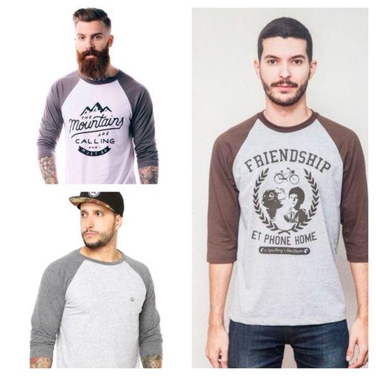 Há uma infinidade de modelos de camiseta Raglan disponível nas lojas, escolha a que mais se adapta ao seu estilo!