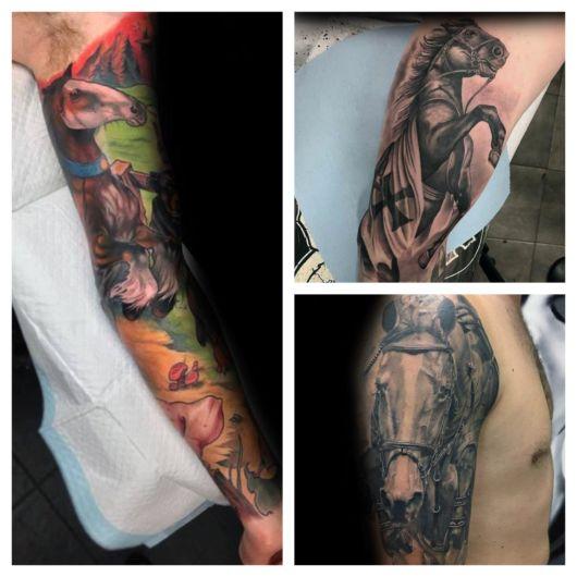 Você pode tatuar diversas partes do corpo, sobretudo braços, costas e pernas