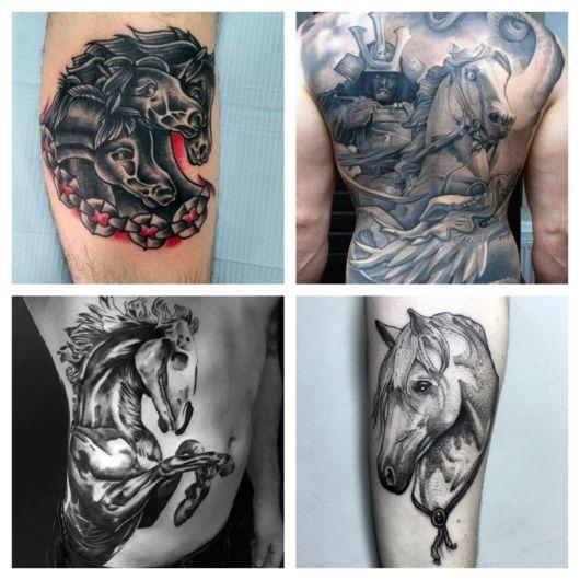 90 inspirações de tatuagem de cavalo para pessoas de todos os estilos