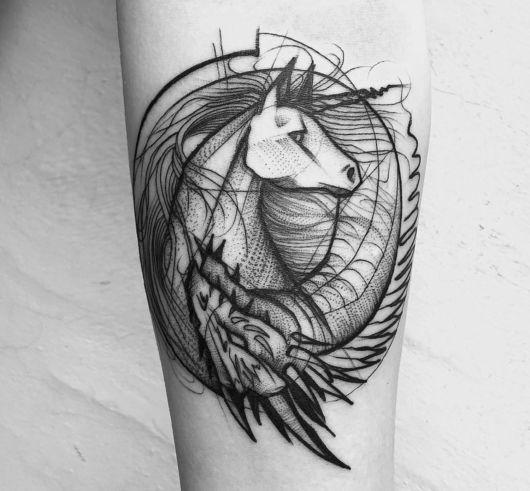 Cavalo + dragão
