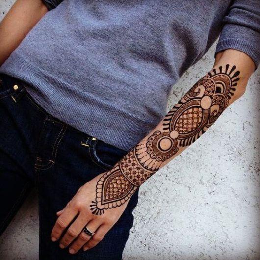 O padrão é semelhante em muitos conceitos de tattoo