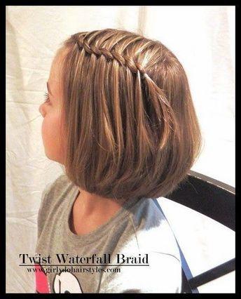 Trança cascata: em cabelo curto infantil