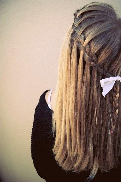 Trança cascata: lateral em cabelo liso