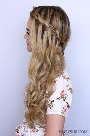 Trança cascata: lateral em cabelo longo