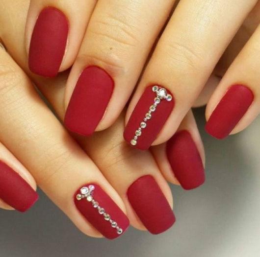 Unhas Decoradas Vermelhas u2013 50 Estilos Perfeitos& Passo a Passo! -> Decoracao Unhas Vermelhas