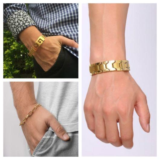 Diversos modelos de pulseira de ouro para deixar seu estilo irado!