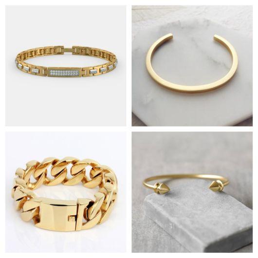 Modelos diferentes e originais da pulseira de ouro masculina para todos os estilos