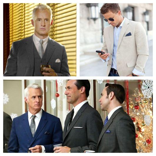 Em muitos eventos de gala, você vê rapazes de todas as idades usando lenço de bolso