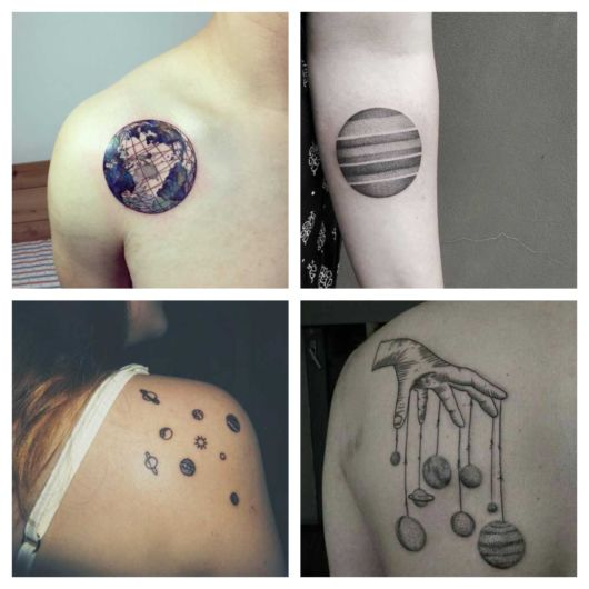 80 inspirações de tatuagem de planeta para todos os gostos + dicas incríveis