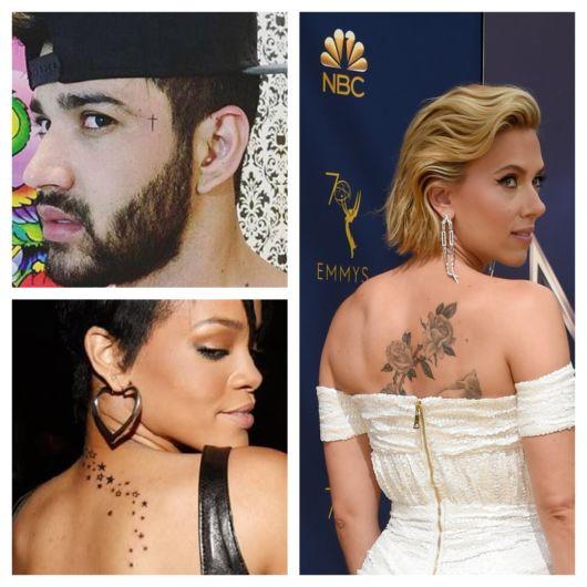 São vários padrões para todos os gostos, desde a tattoo no rosto até nas costas