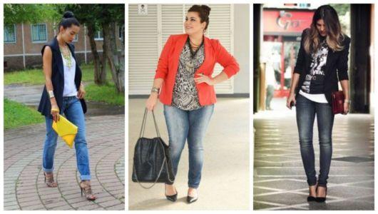 Montagem com três ideias de como se vestir para uma entrevista de emprego.