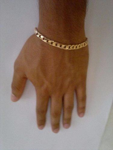 Modelos de pulseira de ouro masculina mais simples podem ser usadas no dia a dia