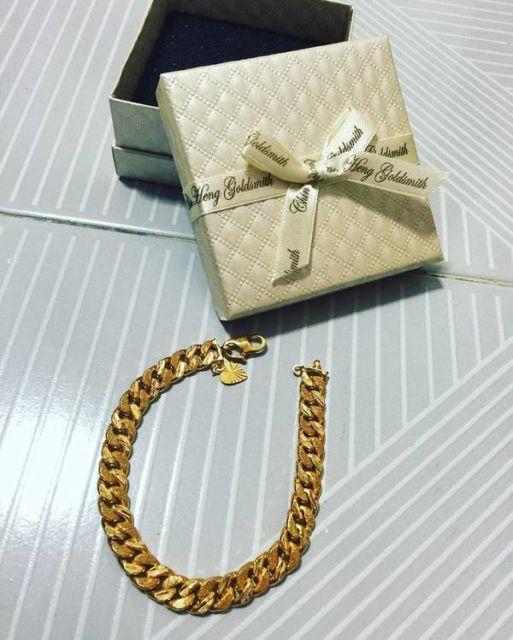 A pulseira de ouro masculina é um ótimo presente também