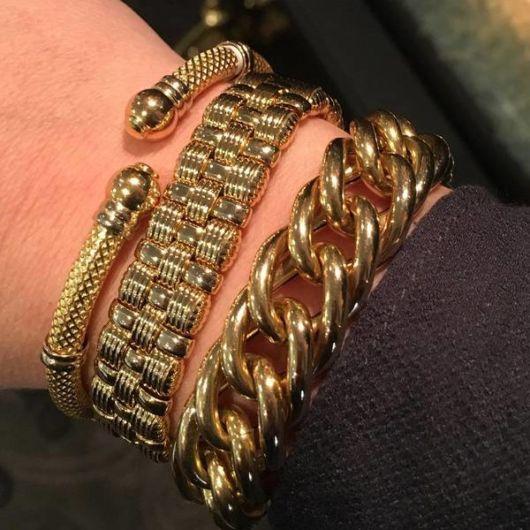 Três modelos de pulseira de ouro masculina para todos os gostos