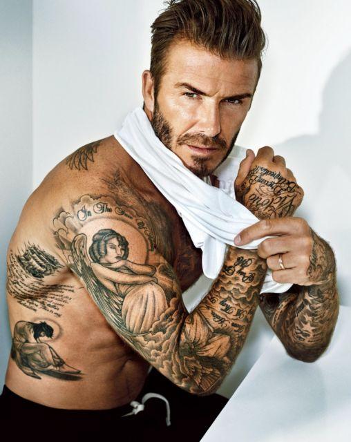 David Beckham e suas várias tattoos