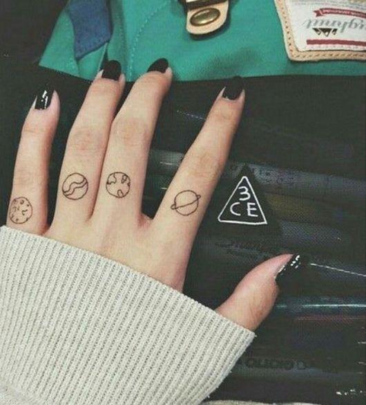 Tatuagem De Planetas O Que Significa 80 Inspirações