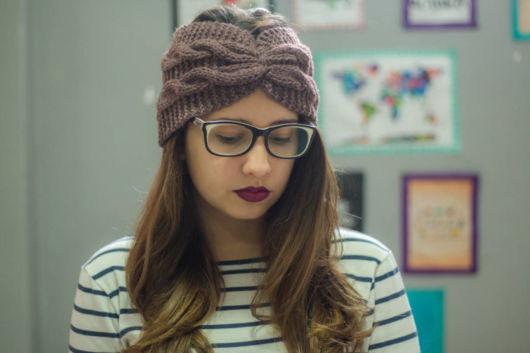 turbante de crochê lindo para mulheres