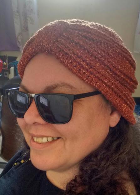 turbante de crochê para usar na cabeça