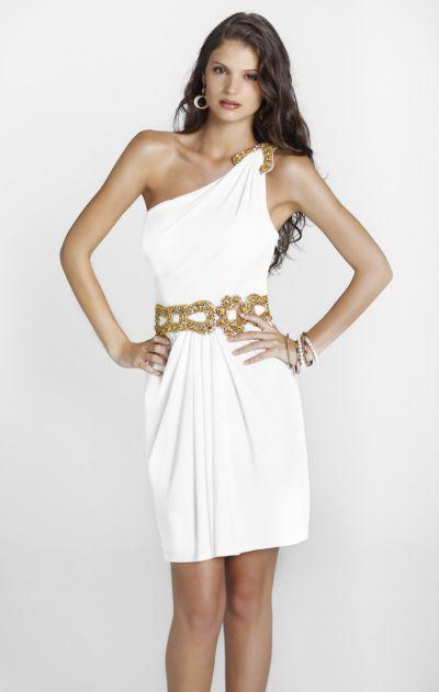 vestido grego branco com dourado