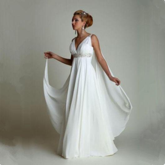 vestido grego de noiva branco