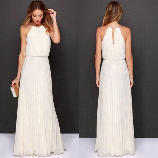 vestido grego drapeado