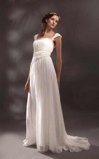 vestido grego tradicional romântico