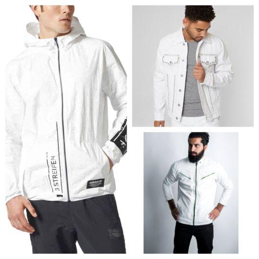 De couro, jeans, bomber, esportiva: há sempre uma boa versão da jaqueta branca masculina ideal para você!