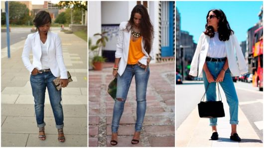 looks com calça jeans e blazer