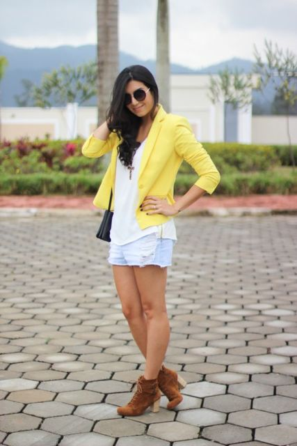 look short com blazer