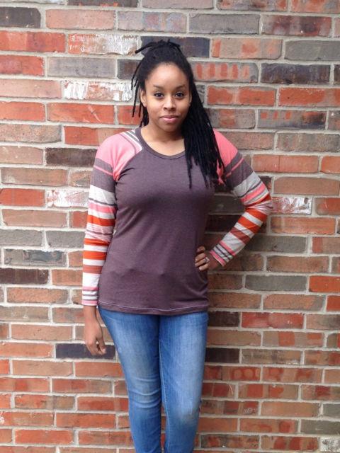 modelos de camiseta raglan feminina