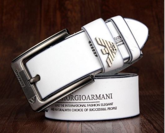 Cinto branco da Giorgio Armani
