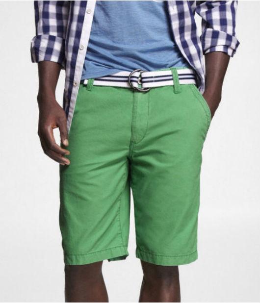 Cinto de lona com camisa quadriculada e cores mais leves